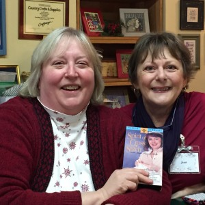 Sherry (left) was even able to dig out one of my old Spirit of Cross Stitch Video Library tapes!