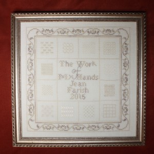"""The Work of My Hands"" includes a dozen traditional whitework stitches."