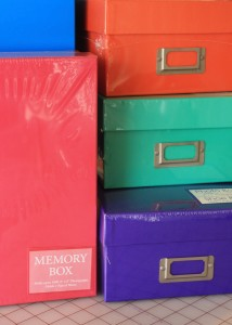 Who can resist bright colorful empty boxes??