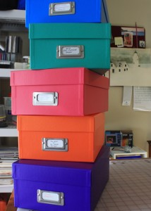 Five boxes. Five bright colors. Heaven!