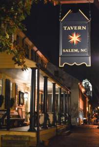 "We'll ""sup"" at Salem Tavern located on the quaint Main Street of Salem, a restored Moravian settlement."